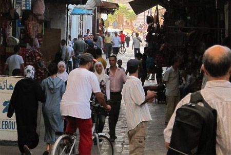 Calle de los cónsules en Rabat, Marruecos. (Fotografía: Raimundo Gregoire Delaunoy)